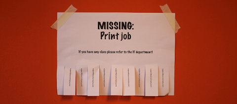 Missing printjob